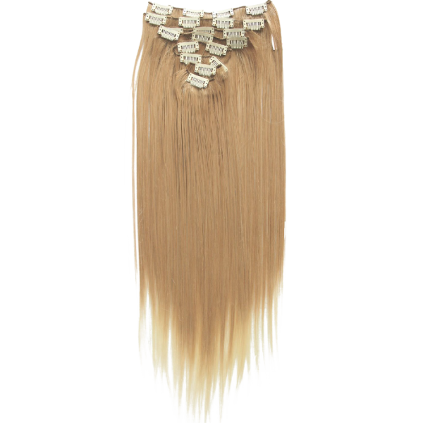 Clip In Hair Extensions Full Head Hairpiece Straight Heat Resisting